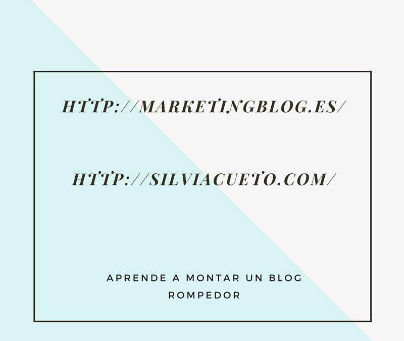 Aprende a montar un blog rompedor con Silvia Cueto y Jonatan Botello